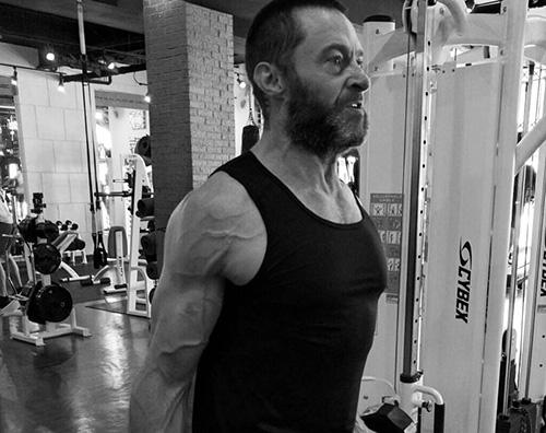 Hugh Jackman Hugh Jackman si allena per il set di Wolverine 3