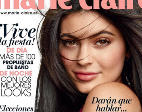 Kylie Jenner 1 Kylie Jenner makeup acqua e sapone per Marie Claire