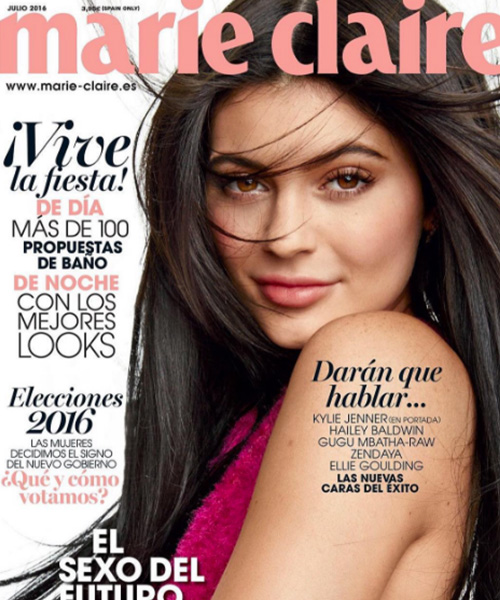 Kylie Jenner 2 Kylie Jenner makeup acqua e sapone per Marie Claire