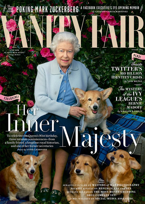 Regina Elisabetta cover vanity fair La regina Elisabetta sulla cover di Vanity Fair