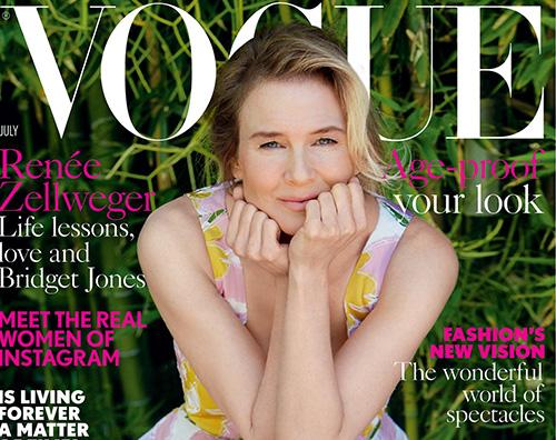 Renee Zellweger Renee Zellweger floreale sulla cover di Vogue
