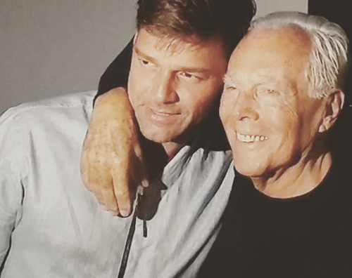 Ricky Martin Giorgio Armani Ricky Martin a Milano con Jwan Yosef