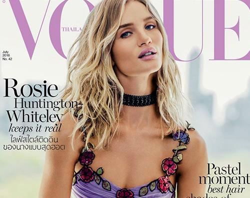 Rosie Huntington Whiteley 1 Rosie Huntington Whiteley sulla cover di Vogue Thailandia