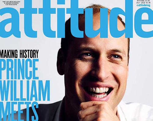 William Il principe William sulla cover di Attitude Magazine