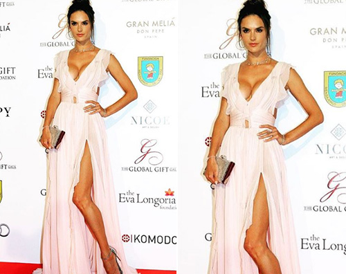 Alessandra Ambrosio Alessandra Ambrosio hot per i Global Gift Foundation Gala