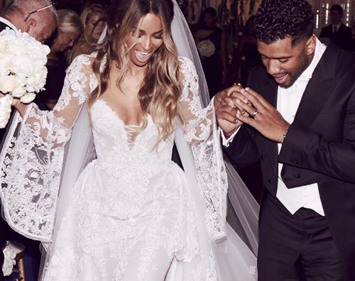 Ciara Matrimonio Ciara e Russell Wilson sono marito e moglie
