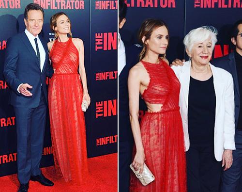 Diane Kruger Diane Kruger in rosso per The infiltrator