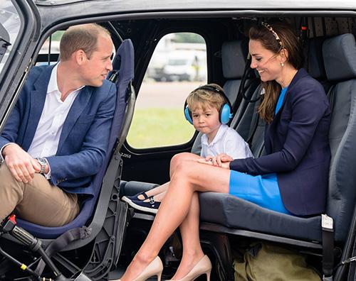 Kate William George Principe George ospite al The Royal International Air Tattoo