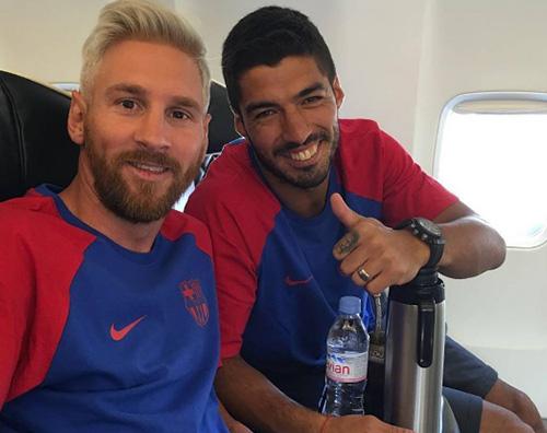 Leo Messi Lionel Messi cambia look e si fa biondo platino