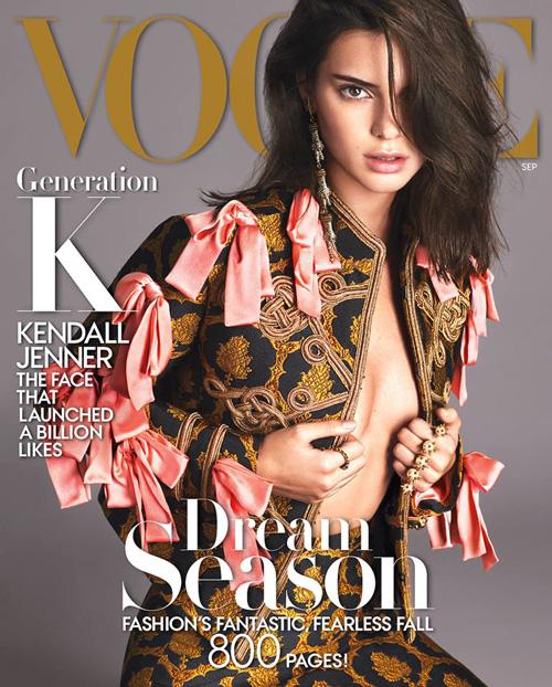 Kendall Kendall Jenner sulla cover di settembre di Vogue
