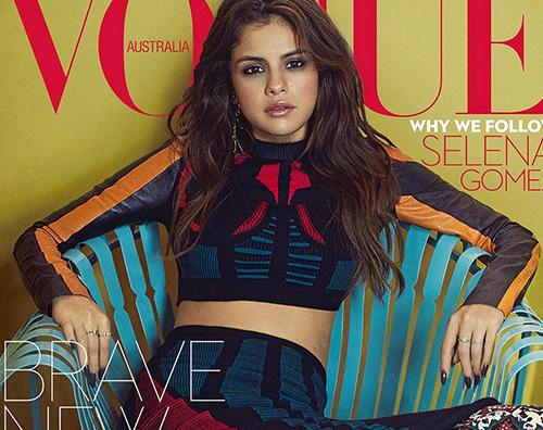Selena Gomez Selena Gomez è stilosa per Vogue Australia