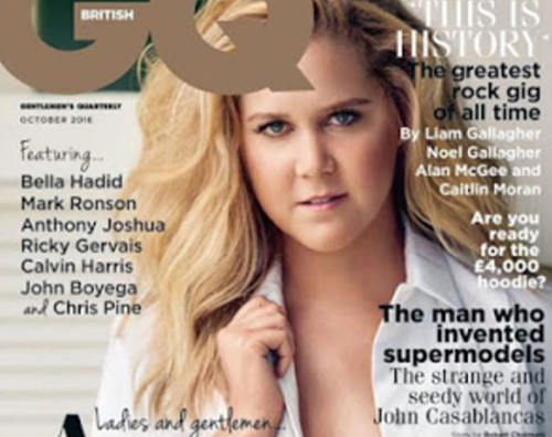 Amy Schumer Amy Schumer, t0pless su GQ British