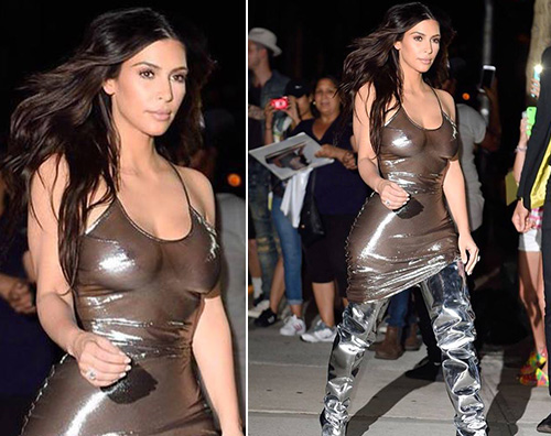 Kim Kardashian Kim Kardashian sobria per lo show di Kanye