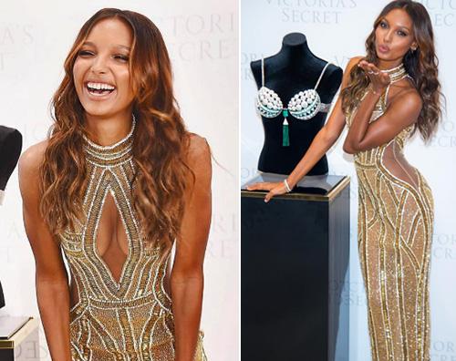 Jasmine Tookes Jasmine Tookes indossa il Fantasy Bra di Victorias Secret