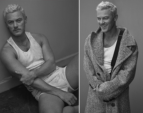 Luke Evans Luke Evans hot su Interview Magazine