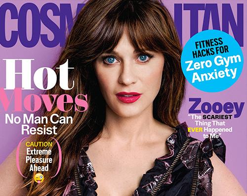 Zooey Deshanel 1 Zooey Deschanel stilosa sulla cover di Cosmopolitan