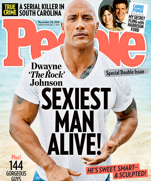 Dwayne Johnson E Dwayne Johnson l uomo più sexy del mondo per People