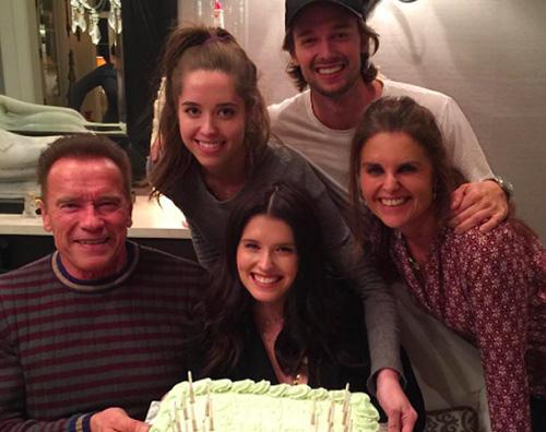 Arnold Schwarzenegger Katherine Schwarzenegger festeggia il compleanno in famiglia