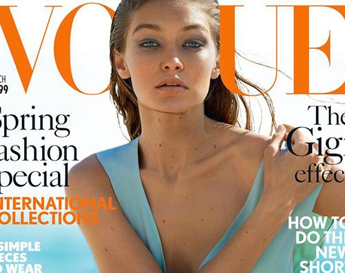 Gigi Hadid Gigi Hadid sulla cover di British Vogue