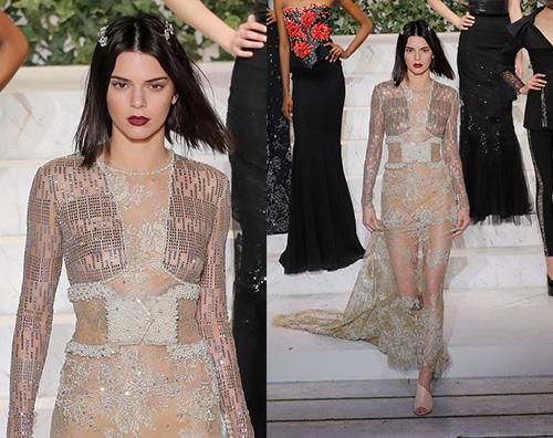Kendall jenner Kendall Jenner incanta sulla passerella di La Perla
