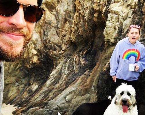 Liam e Miley Sanvalentino sulla spiaggia per Miley e Liam
