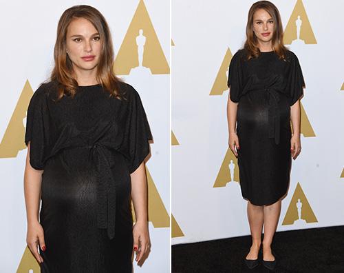 Natalie Portman Natalie Portman porta il pancione al Oscar Luncheon 2017