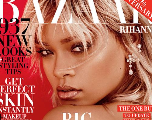 Rihanna 1 Rihanna è bionda su Harpers Bazaar
