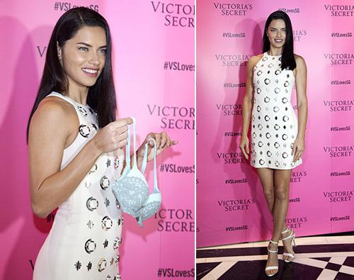 Adriana Lima Adriana Lima a Singapore per Victorias Secret