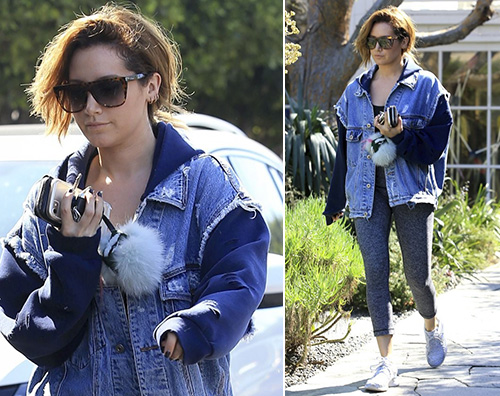 Ashley Tisdale Ashley Tisdale casual per lo shopping