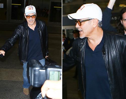 George Clooney 2 George Clooney fotografato al Lax