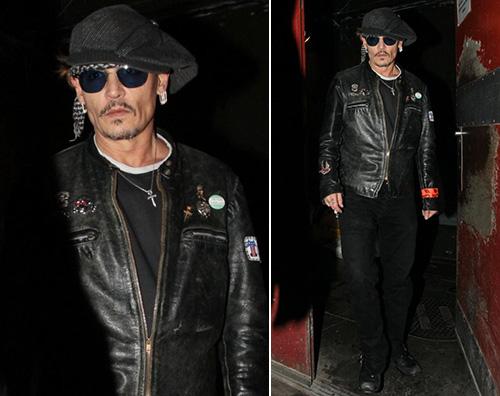 Johnny Depp 1 Johnny Depp al party di Lady Gaga