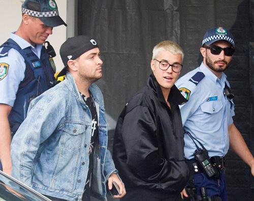 Justin Bieber 2 Justin Bieber accolto dai fan in Australia