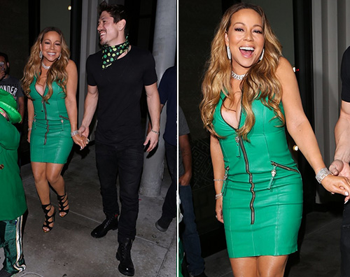 Mariah Carey Mariah Carey festeggia San Patrizio con Bryan