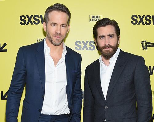Rayan Reynolds e Jake Gyllenhaal Rayan Reynolds e Jake Gyllenhaal alla premiere di Life