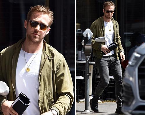 Ryan Gosling Ryan Gosling a pranzo da solo a LA