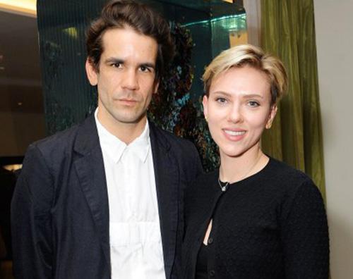 Scarlett Scarlett Johansson con Romain Dauriac a New York