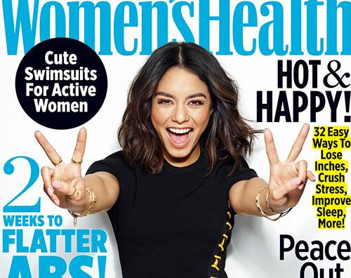 Vanessa Hudgens Cover Vanessa Hudgens in forma sulla cover di Women's Health