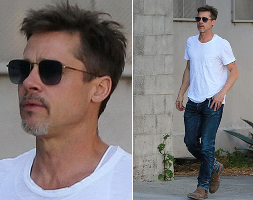 Brad Pitt Brad Pitt in forma a Los Angeles