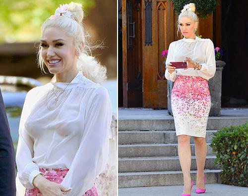 Gwen Stefani Gwen Stefani elegante per la comunione di Kingston