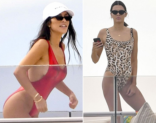 Kendall Jenner Kendall e Kourtney si rilassano a Cannes