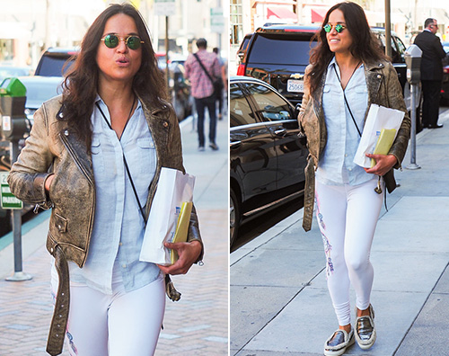 Michelle Rodriguez 2 Michelle Rodriguez fa shopping a Los Angeles