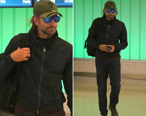 Bradley Cooper Bradley Cooper quasi irriconoscibile in aeroporto