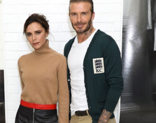 David Beckham David e Victoria alla Men Fashion Week di Londra