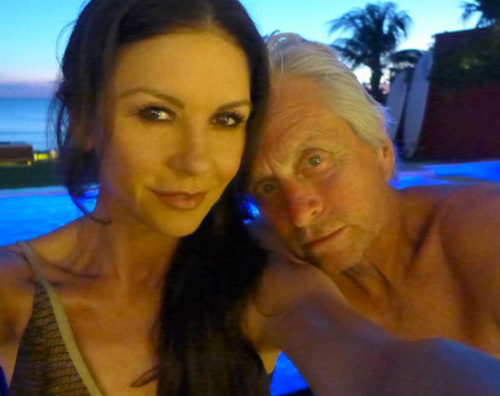 Douglas 1 Catherine Zeta Jones e Michael Douglas, weekend alle Bermuda