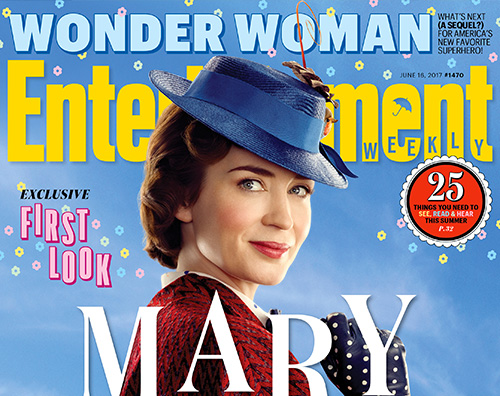Emily Blunt 1 Emily Blunt è Mary Poppins su Entertainment Weekly