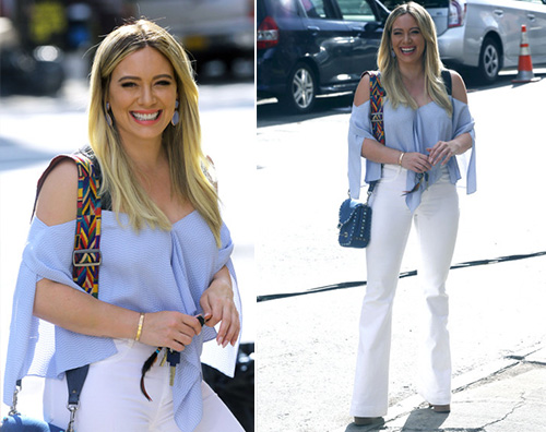 Hilary Duff Hilary Duff a New York sul set di Younger
