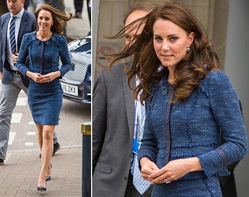 Kate Middleton Kate Middleton in blu al Kings College Hospital