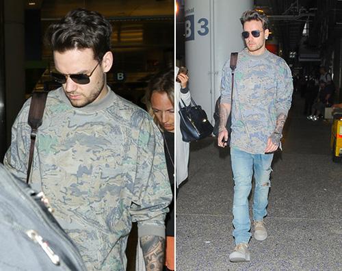 Liam Payne Liam Payne mostra i tattoo in aeroporto