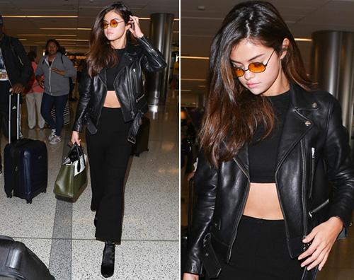 Selena Gomez Selena Gomez al LAX tutta sola