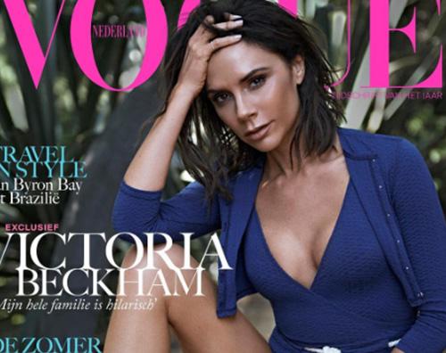 Vicotria Beckham 1 Victoria Beckham sorride sulla cover di Vogue